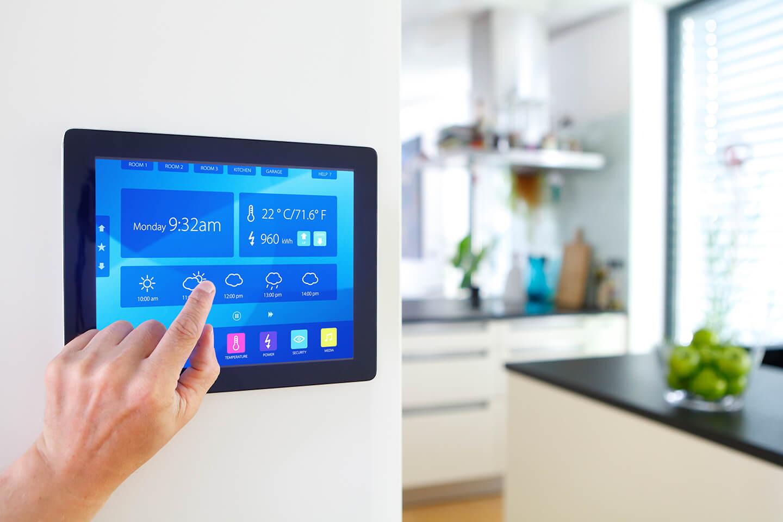 Maison intelligente connectée avec de la domotique pour votre confort
